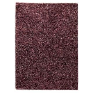 M.A.Trading Indo Hand-woven Solo Sorso Purple Rug (7'10 x 9'10)