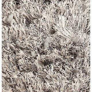 M.A. Trading Indo Hand-woven Solo Sorso Silver Rug (5'2 x 7'6)