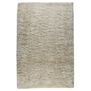 M.A. Trading Indo Hand-woven Sunshine White Rug (6'6 x 6'6)
