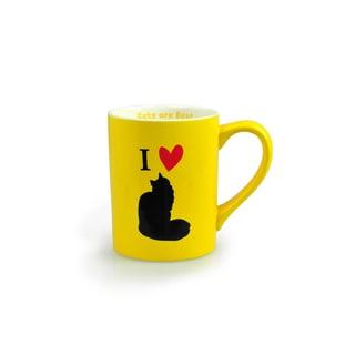 Kityu Gift I Love Cats 16oz Ceramic Mug