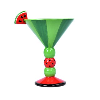 Kityu Gift Ceramic Red / Green Watermelon Cocktail Cup