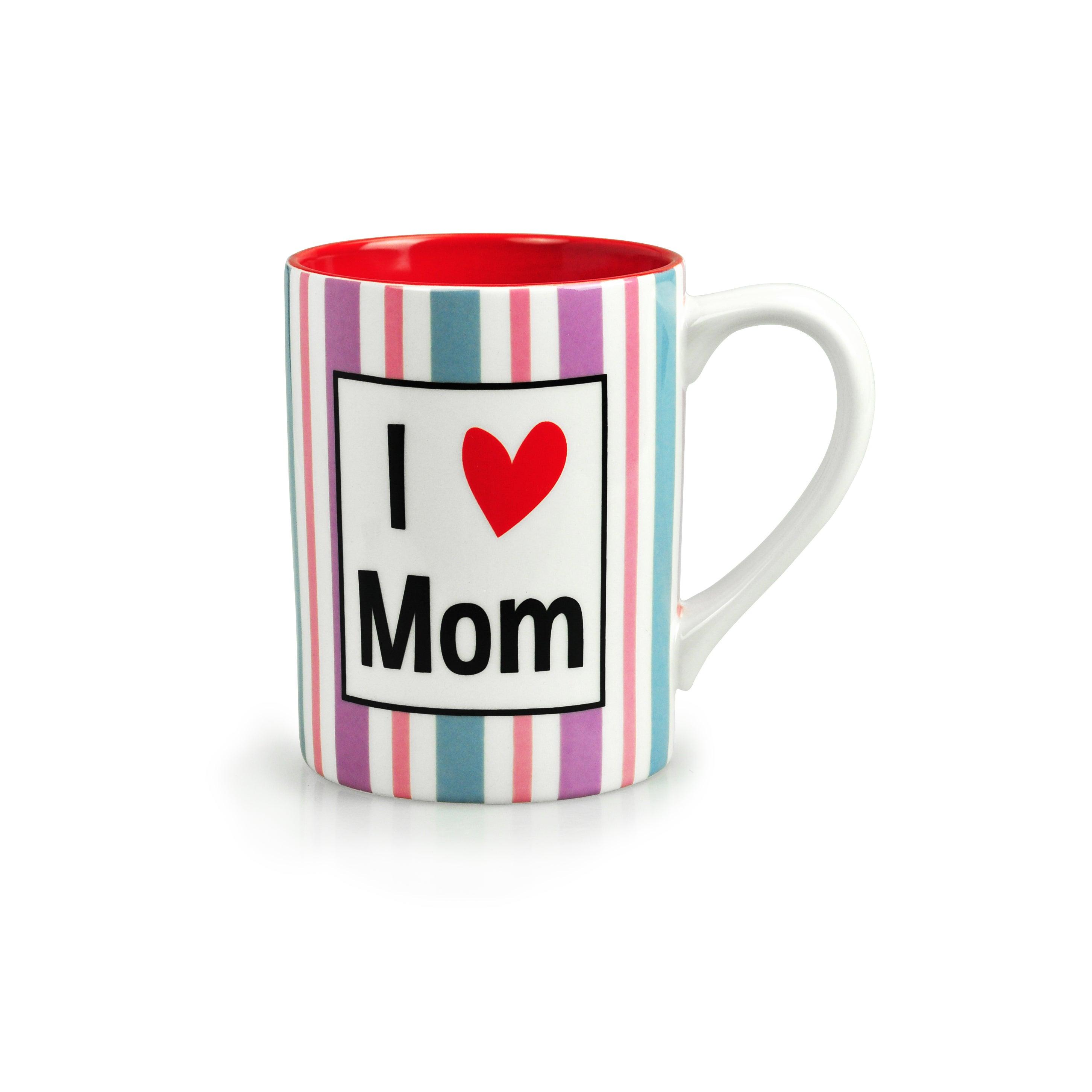 Enterprises Kityu Gift I Love Mom Ceramic 16-ounce Mug (P...