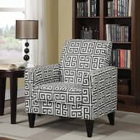 Clay Alder Home Union Charcoal Grey Greek Key Arm Chair