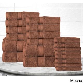 Casa Platino Soft and Luxurious Cotton 600 GSM 20-Piece Towel Set (Option: Mocha)