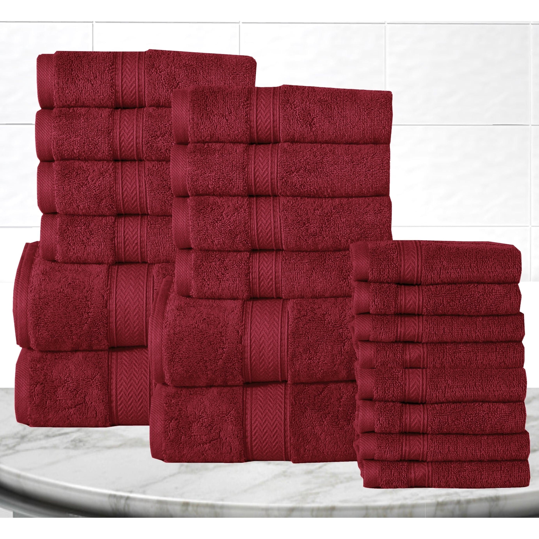Casa Platino Soft And Luxurious Cotton 600 Gsm 20 Piece Towel Set Ebay