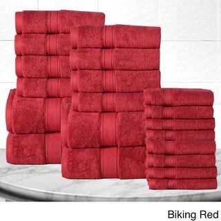 Casa Platino Soft and Luxurious Cotton 600 GSM 20-Piece Towel Set (Option: Red)