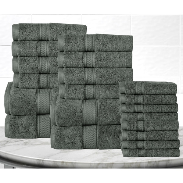 Casa Platino Soft and Luxurious Egyptian Cotton 600 GSM 20-piece Towel Set