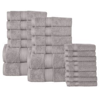 Casa Platino Soft and Luxurious Egyptian Cotton 600 GSM 20-piece Towel Set