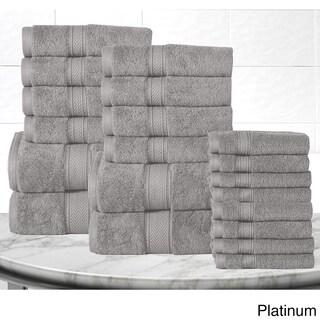 Casa Platino Soft and Luxurious Cotton 600 GSM 20-Piece Towel Set (Option: Platinum)