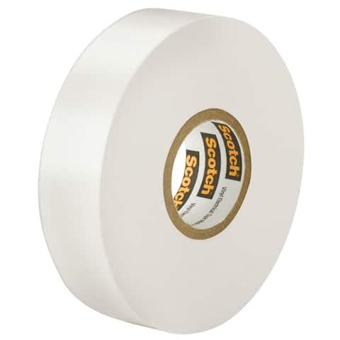 Scotch 1/2 in. W x 66 ft. L Rubber Glass Cloth Electrical Tape White