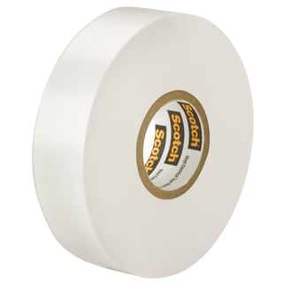 "3M 27 1/2"" X 66' White Electrical Tape"