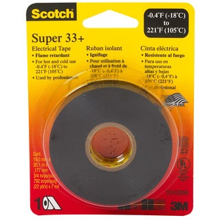 "3M 6132-BA-100 3/4"" X 66' Scotch Vinyl Super 33+ Electrical Tape"