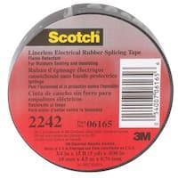 3M  Scotch 2242  3/4 in. W x 15 ft. L Rubber  Electrical Tape