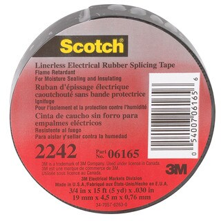 3M Scotch 2242 3/4 in. W x 15 ft. L Rubber Electrical Tape