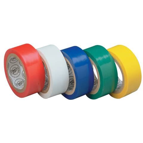 "GB Gardner Bender GTPR-575 3/4"" X 12' Assorted Colors Electrical Tape"