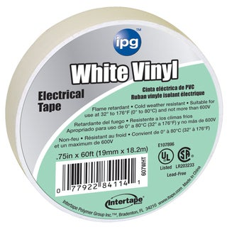 "Intertape Polymer Group 85828 3/4"" x 60' White Vinyl Electrical Tape"