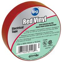 """Intertape Polymer Group 85832 3/4"""" x 60' Red Vinyl Electrical Tape"""