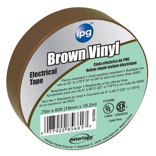 "Intertape Polymer Group 85833 3/4"" X 60' Brown Electric Tape"