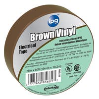 """Intertape Polymer Group 85833 3/4"""" X 60' Brown Electric Tape"""