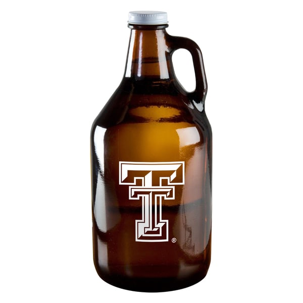 Texas Tech Red Raiders 64-ounce Amber Glass Growler