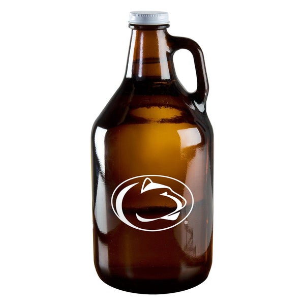 Penn State Nittany Lions 64-ounce Amber Glass Growler
