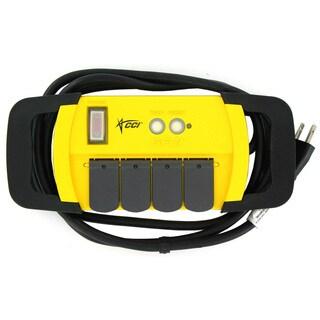 Coleman Cable 04644-88-04 4-Outlet PowerStation GFCI Power Strip Block