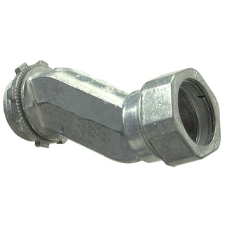 "Halex 03905 1/2"" Zinc Offset Connector"