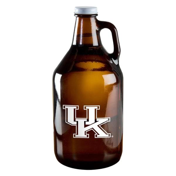 Kentucky Wildcats 64-ounce Amber Glass Growler