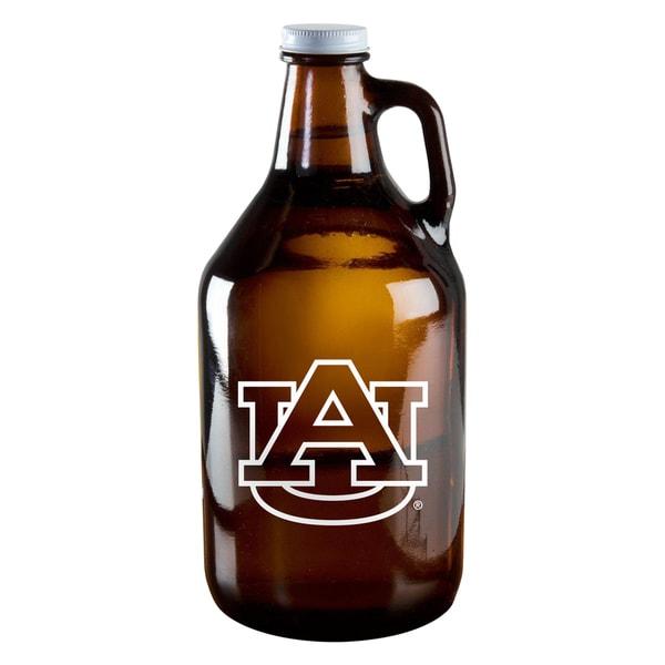 Auburn Tigers 64-ounce Amber Glass Growler