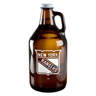 New York Rangers 64-ounce Amber Glass Growler