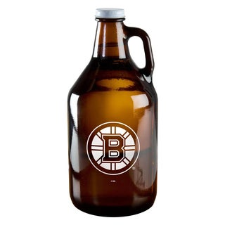 Boston Bruins 64-ounce Amber Glass Growler
