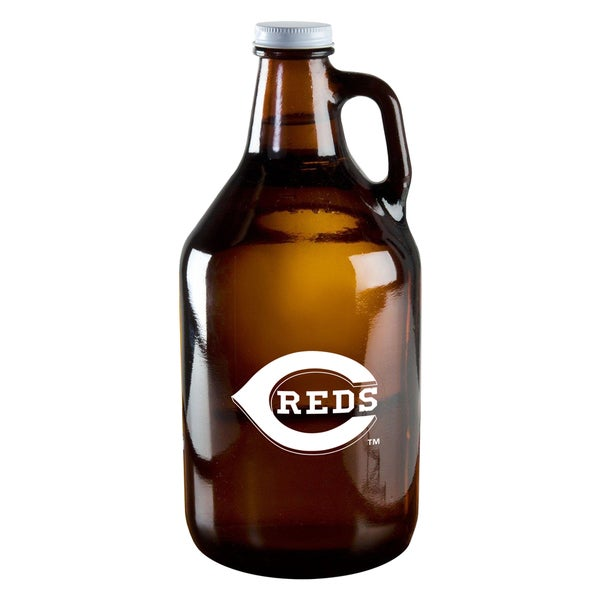 Cincinnati Reds 64-ounce Amber Glass Growler