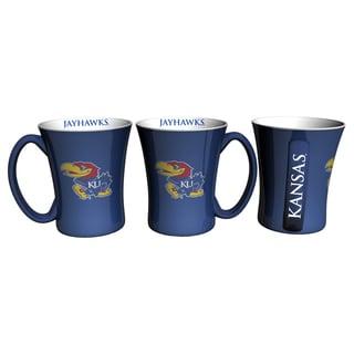 Kansas Jayhawks 14-ounce Victory Mug Set