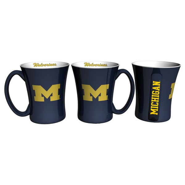 Michigan Wolverines 14-ounce Victory Mug Set