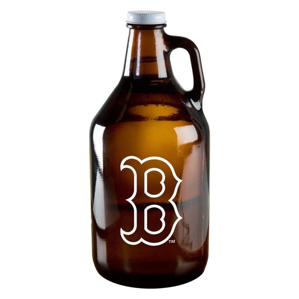 Boston Red Sox 64-ounce Amber Glass Growler