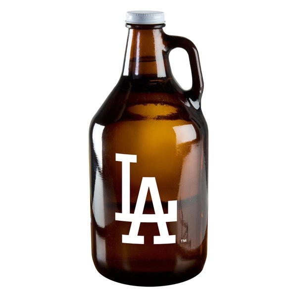 Los Angeles Dodgers 64-ounce Amber Glass Growler