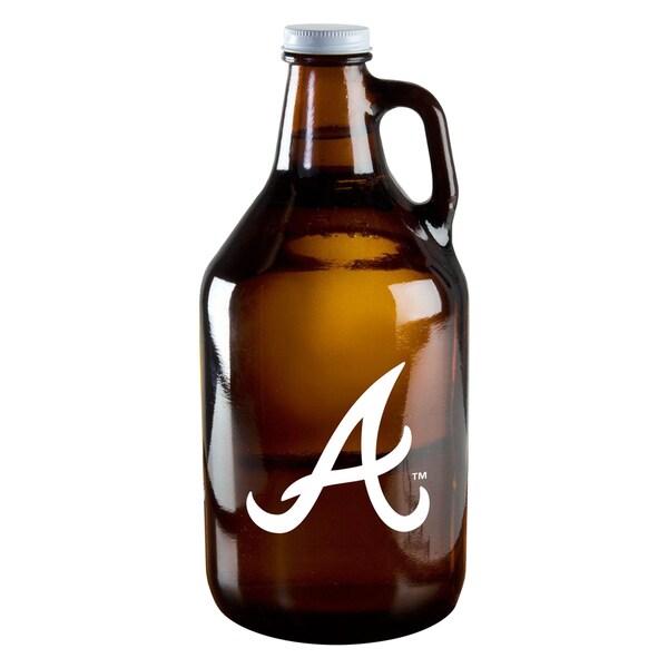 Atlanta Braves 64-ounce Amber Glass Growler