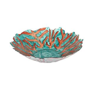 Blue Sea Fan Glass Bowl