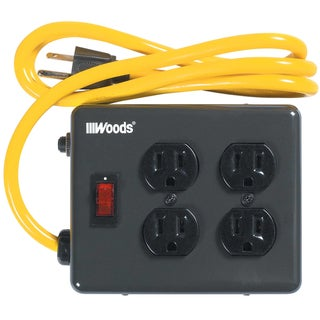 Woods 02177 4' 15 Amp 4-Outlet Power Strip