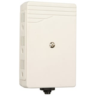 Woods 412028821 6-Outlet White Side Entry Wall Adapter With Circuit Breaker