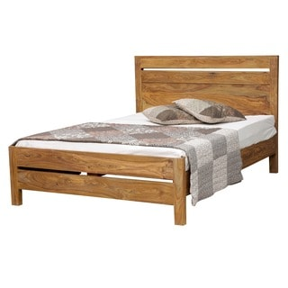 Wanderloot Urban Sheesham Contemporary Queen Platform Bed (India)