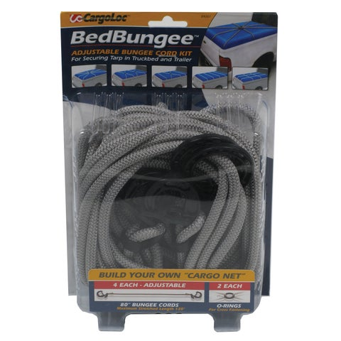 Allied International 84061 80-inch Gray Adjustable Bungee Cords 4-count
