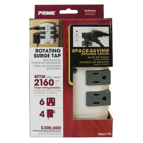 Prime PB503105 6-Outlet 2160J Swivel Surge Tap