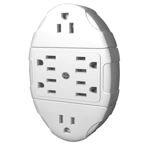 Stanley 38110 6 Outlet White Transformer Tap