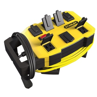 Stanley 32060 7 Outlet Yellow & Black Outrigger Power Station W/Cord