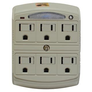 Stanley 33208 6 Outlet Surge Protected Wall Adapter With Night Light|https://ak1.ostkcdn.com/images/products/11781968/P18692960.jpg?impolicy=medium