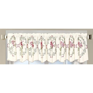Serenta Embroidered Rose Valance