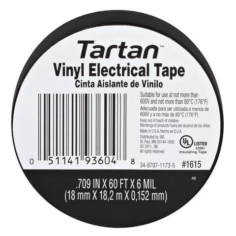 3M 1615 Tartan Vinyl Electrical Tape