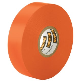"3M 10869-DL-5 3/4"" x 66"" Orange Scotch Vinyl Electrical Tape"