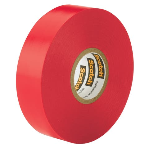 "3M 10810-DL-2W 3/4"" X 66' Red Scotch 35 Professional Grade Electrical Tape"